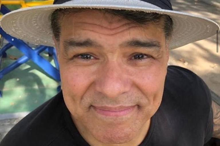 O ator Maurício Mattar em foto postada em sua rede social durante a pandemia de Covid-19