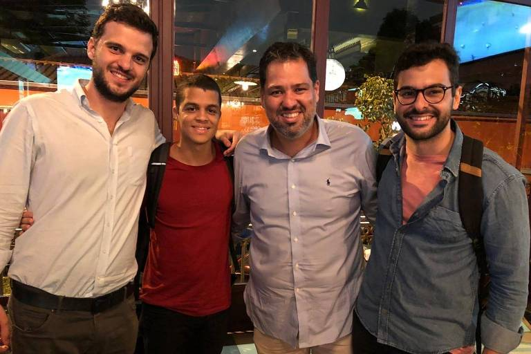 Da esq. para a dir., Rodrigo Camargo, Victor Copque, Rafael Barbosa e Pedro Rio, da startup Clarke Energia