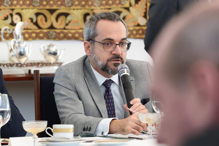 O ministro Abraham Weintraub em reunião do Conselho de Governo em Brasília