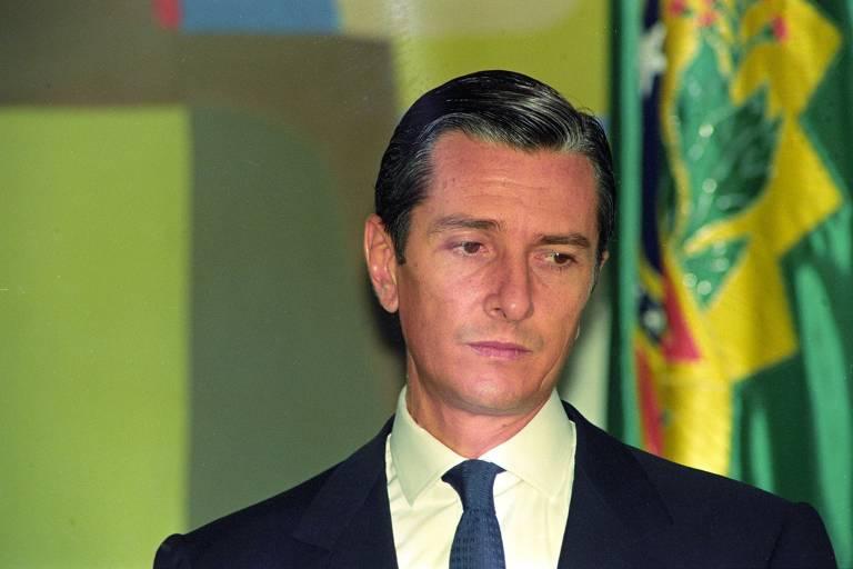 O presidente Collor durante cerimônia no Palácio do Planalto em 23 de setembro de 1992, seis dias antes de a Câmara autorizar abertura do impeachment