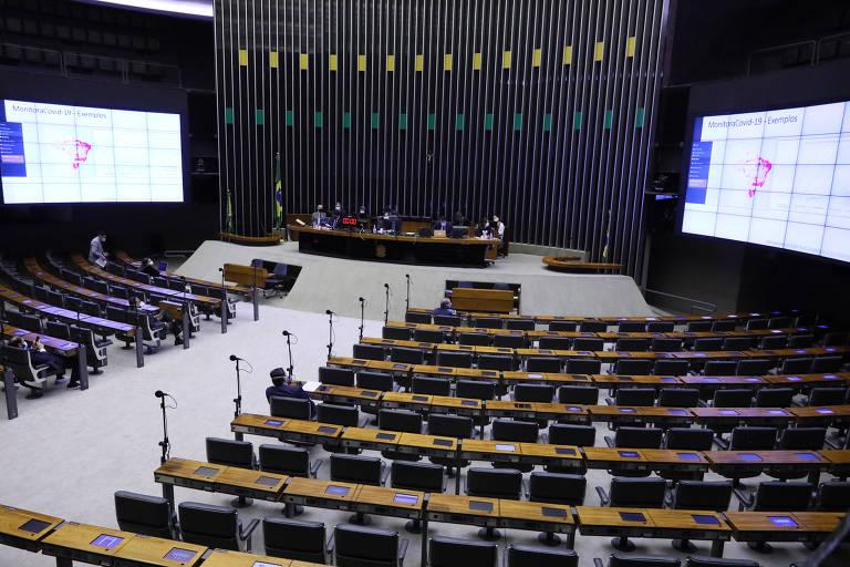 Sessão remota na Câmara dos Deputados