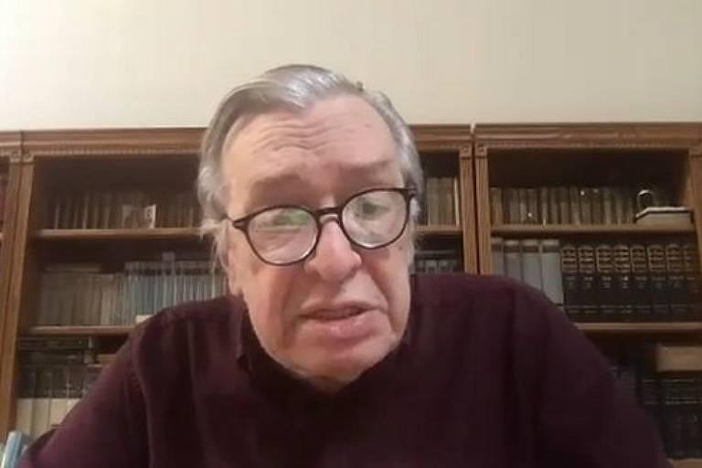 Olavo de Carvalho em videoconferência
