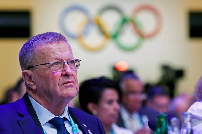 John Coates em encontro do COI na Suíça