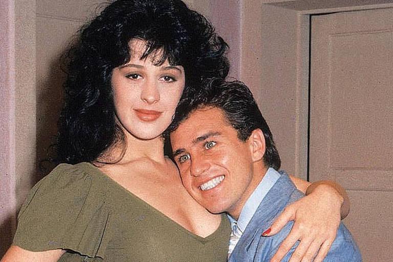 Claudia Raia e Marcos Frota em 'Sassaricando' (1987)