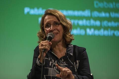 SÃO PAULO, SP, 16.05.2019: A professora da USP Marta Arretche, no encerramento de seminário de 50 anos do Cebrap (Centro Brasileiro de Análise e Planejamento), em São Paulo. (Foto Marlene Bergamo/Folhapress)