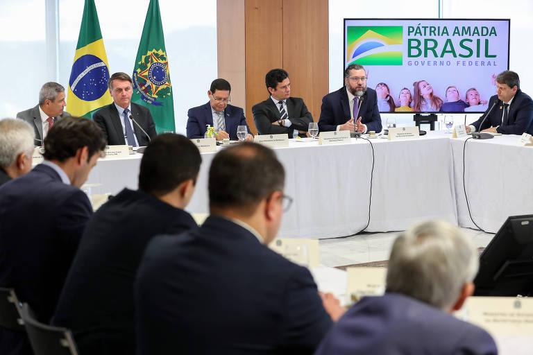Reunião ministerial do dia 22 de abril, tornada pública nesta sexta-feira (22)