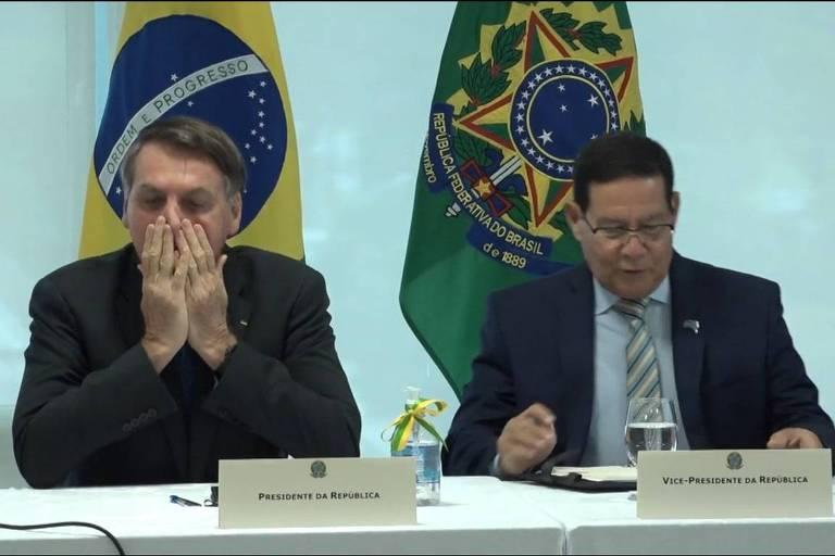 Reprodução de vídeo da reunião ministerial de 22 de abril