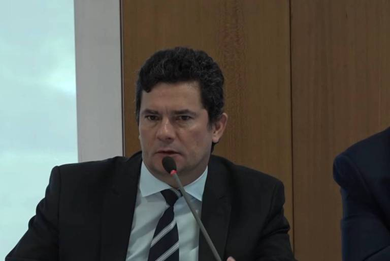 Ex-ministro Sergio Moro fala em reunião ministerial