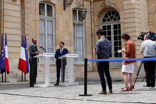 French PM Philippe presents the details of the health procedures to be adopted during the mayoral elections in Paris