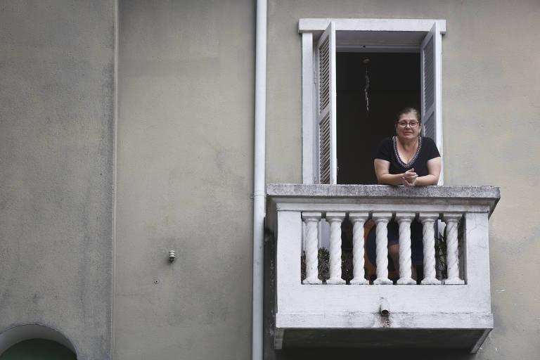 María Teresa Barbosa Lima de Arruda Botelho não sai de casa desde quando foi implantado o isolamento