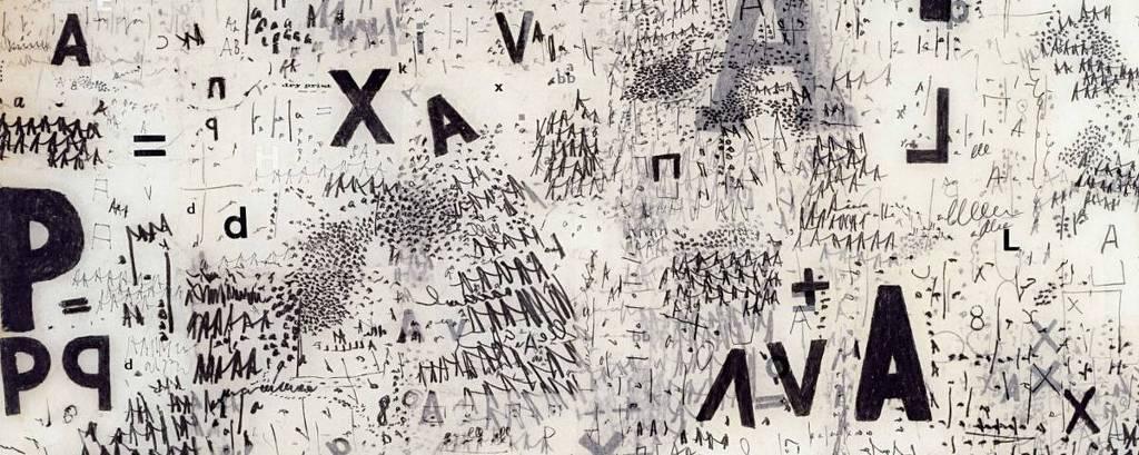Obra da série 'Objetos Gráficos' realizada em 1967 pela artista Mira Schendel.