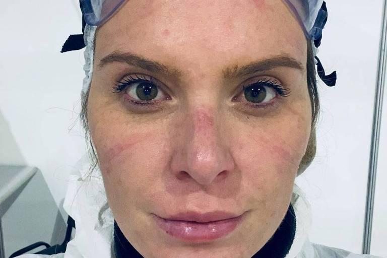 Médica e apresentadora de programas de esportes radiciais, Karina Oliani está na linha de frente contra o coronavírus