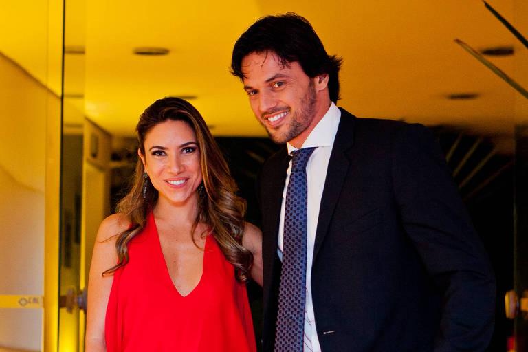 A apresentadora Patrícia Abravanel, filha de Silvio Santos, e o marido e deputado federal, Fábio Faria
