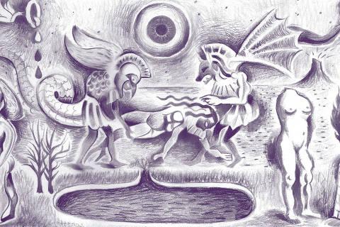 Ilustração coluna Pondé de 25mai