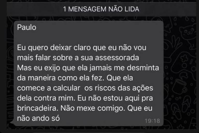 Print de conversasdo WhatsApp de Leo Dias com Anitta e sua equipe