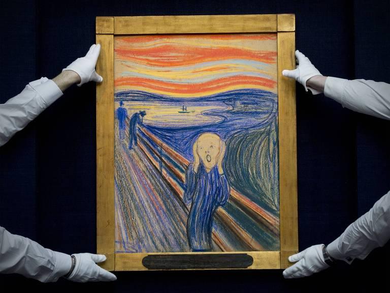 Versão de 'O Grito' feita por Edvard Munch's em 1895