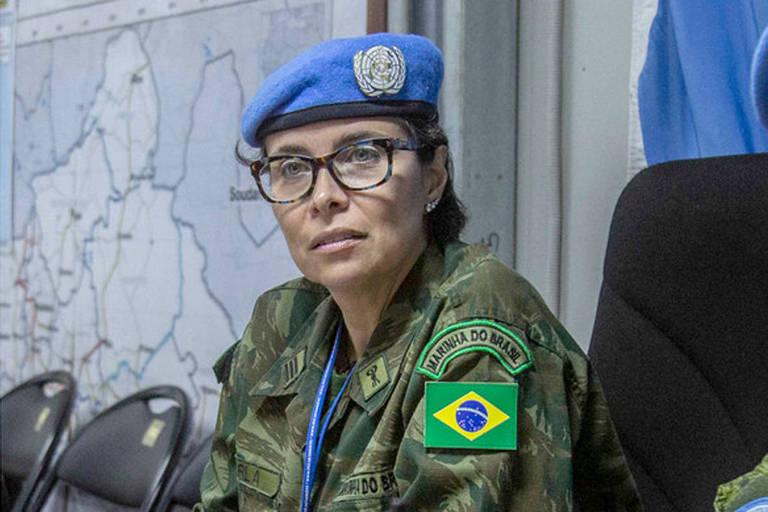 A comandante brasileira Carla Monteiro de Castro Araújo, escolhida para receber o Prêmio Defensora Militar da Igualdade de Gênero da ONU 2019
