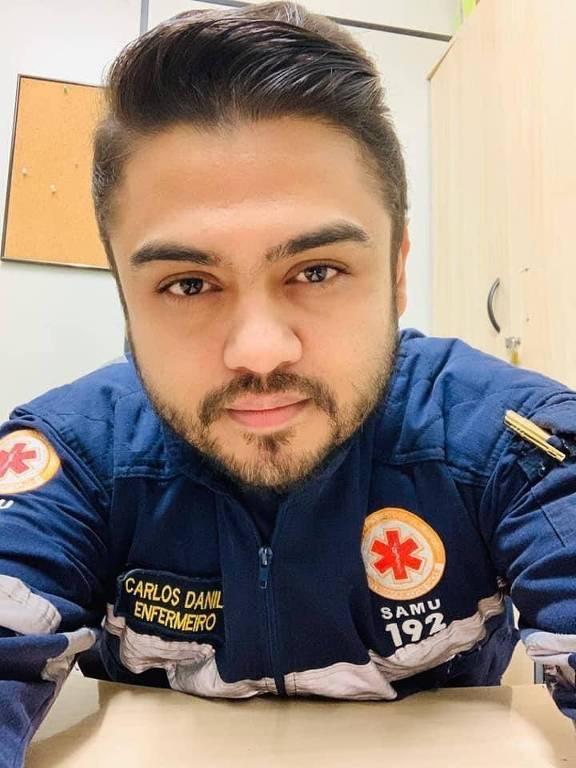 Carlos Danilo Ramos da Cruz, enfermeiro do SAMU de Jundiaí, se recuperou da Covid-19