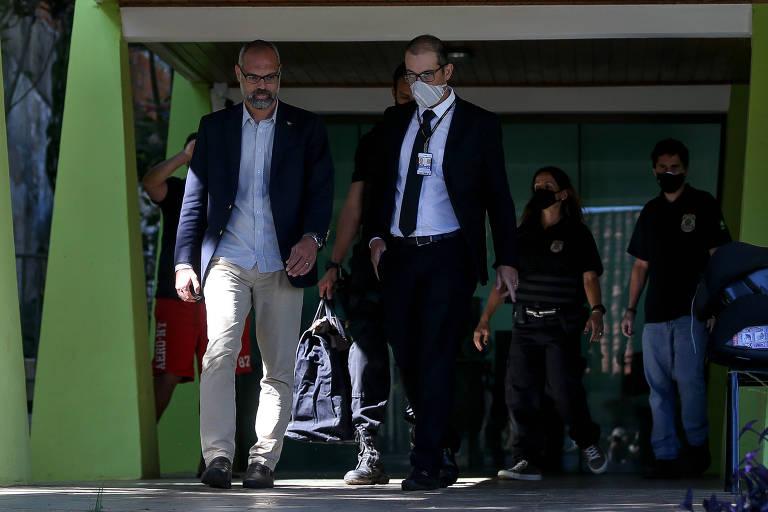 O blogueiro bolsonarista Allan dos Santos, alvo de operação contra fake news nesta quarta-feira