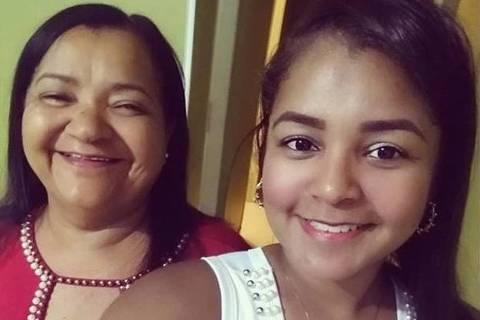 Ao lado da filha, Gabriela, Maria do Socorro da Silva Nascimento ficou 18 dias internada, sendo 4 na UTI, para se recuperar do novo coronavírus. Credito:Arquivo pessoal