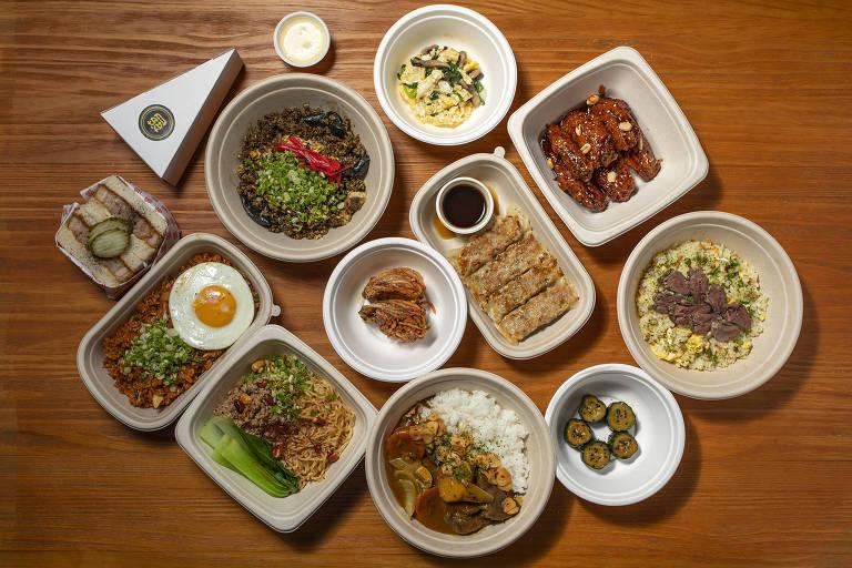 Receitas oferecidas no Tan Tan, restaurante comandado por Thiago Bañares, em Pinheiros