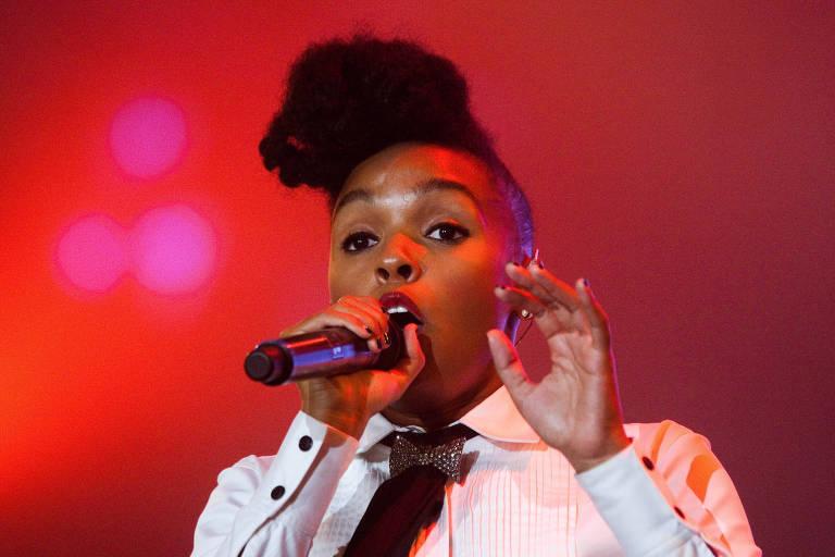 Show de Janelle Monae no palco Mundo, no Rock in Rio 2011, no Rio de Janeiro