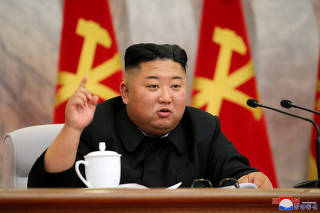 North Korean leader Kim Jong Un speaks during the conference of the Central Military Committee of the Workers' Party of Korea