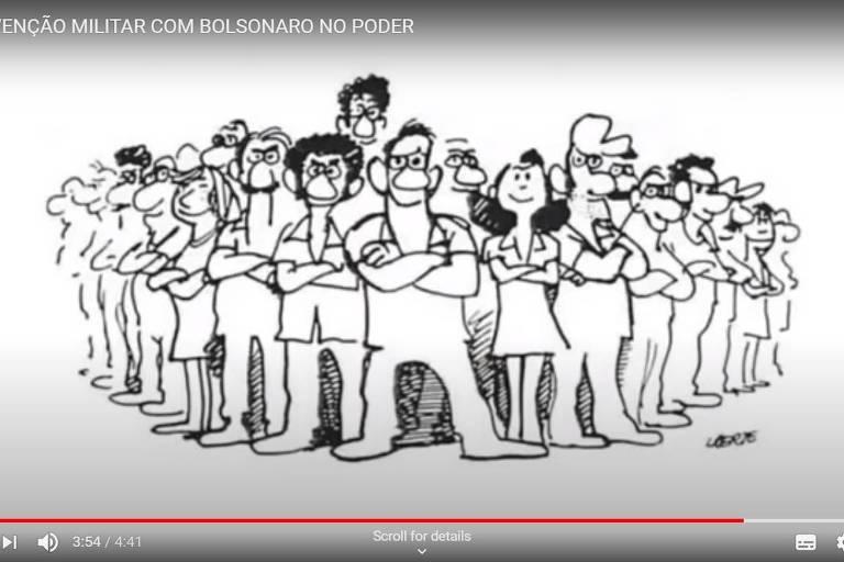desenho mostra trabalhadores unidos