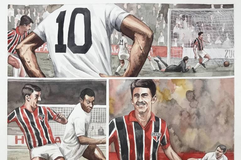 Em 1963, goleada de 4 a 1 do São Paulo sobre o Santos de Pelé, que foi expulso