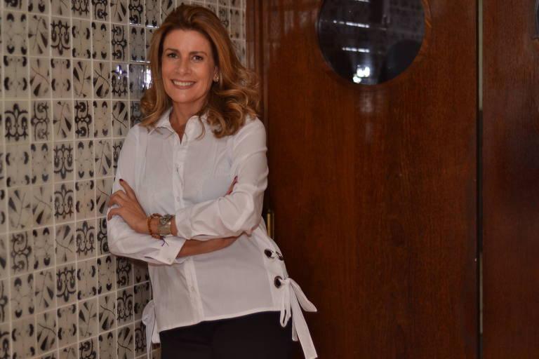 A chef Silvia Percussi, no seu restaurante, o Vinheria Percussi, em Pinheiros, na zona oeste de São Paulo