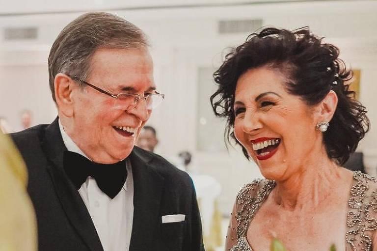Fernando Torrano Gomes (1943-2020) e a esposa Concetta Ippolito Torrano Gomes