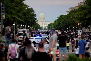 Protestors are seen in Washington