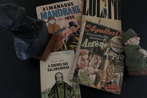 Livros e gibis que Ruy Castro levaria para uma ilha deserta