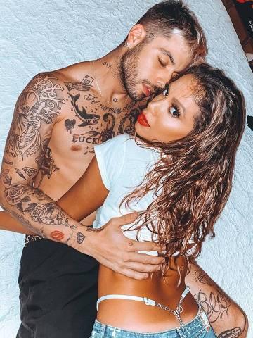 Anitta com o namorado Gui Araujo