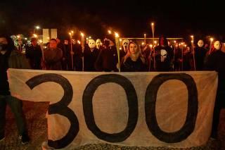 Protesto pró bolsonarista chamado 300 Brasil Contra STF