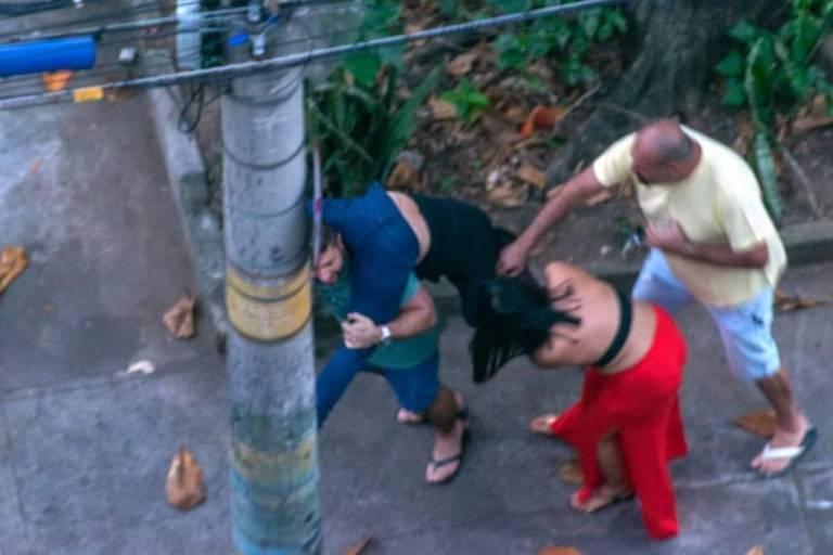 Ticyana Azambuja foi agredida por frequentadores do Baile Covid-19 no Grajaú, zona norte do Rio