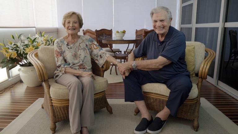 O casal Tarcísio Meira e Glória Menezes