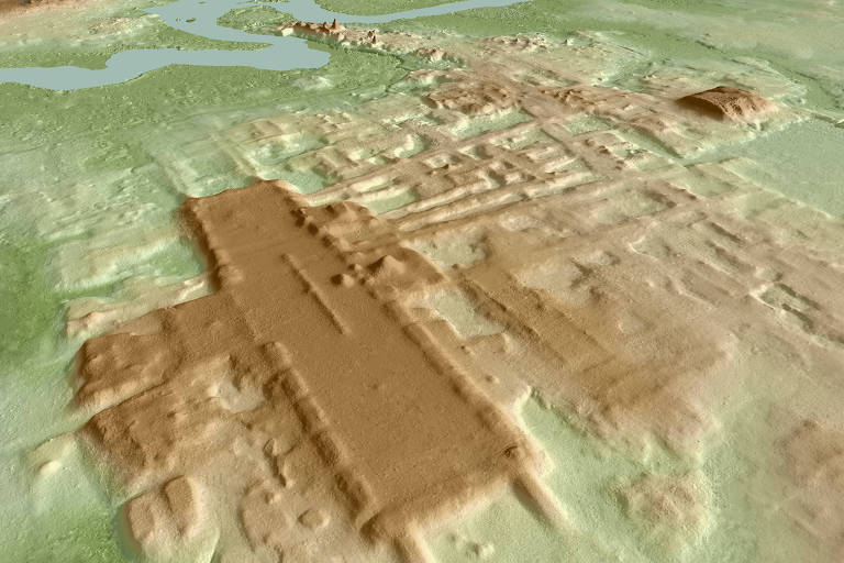 3D image of the site of Aguada Fenix based on lidar.