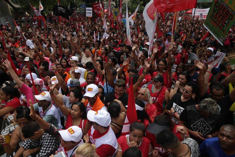 Movimento de centrais sindicais em ato do Dia do Trabalho - 1º.mai.2019