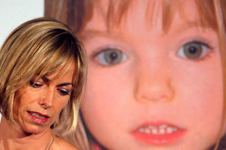 Kate McCann, mãe de Madeleine, durante entrevista coletiva em Londres para lançamento de livro sobre o desaparecimento