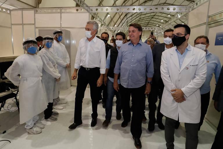 Após cem dias e três ministros da Saúde, Bolsonaro inaugura seu 1º hospital de campanha