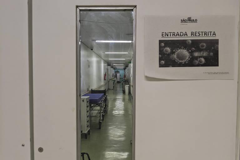 Entrada de UTI para pacientes com Covid-19 no Hospital Geral Vila Nova Cachoeirinha