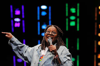 FILE PHOTO: Whoopi Goldberg speaks during the WorldPride 2019 Opening Ceremony, a combined celebration marking the 50th anniversary of the 1969 Stonewall riots and WorldPride 2019 in New York