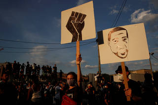 Banned demonstration in Paris in memory of Adama Traore in Paris