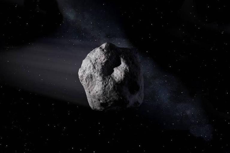 O asteroide 2002 NN4 passou pela Terra na madrugada deste sábado, por volta das 00h20
