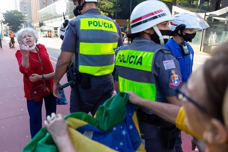 Manifestação pró-Bolsonaro em 7 de junho em SP