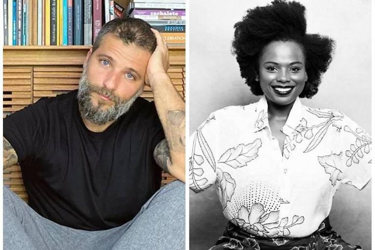 Bruno Gagliasso e a escritora ativista Luana Genot