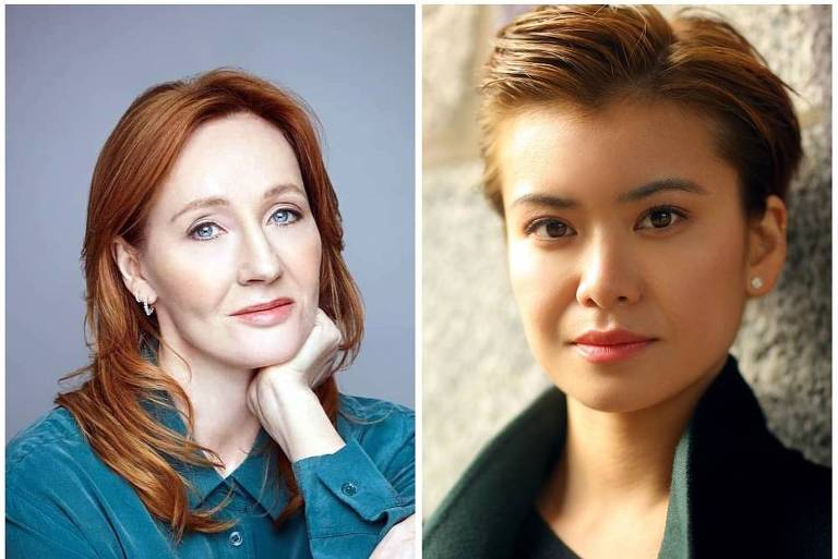 JK Rowling e Katie Leung