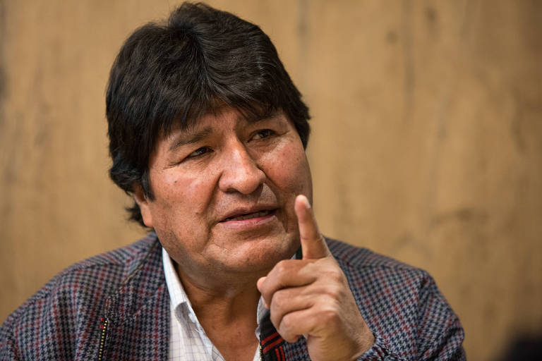 O ex-presidente da Bolívia Evo Morales durante entrevista na Cidade do México