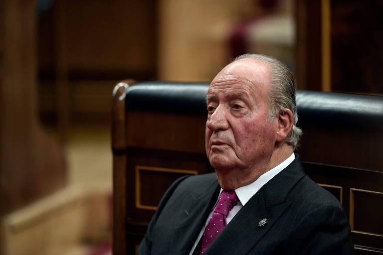 Juan Carlos, rei emérito da Espanha, durante eventos do 40º aniversário da Constituição espanhola